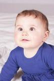 κορίτσι μπουκαλιών μωρών Στοκ Φωτογραφία