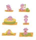 κορίτσι μπουκαλιών μωρών Απεικόνιση αποθεμάτων