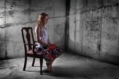 κορίτσι μπουντρουμιών Στοκ φωτογραφία με δικαίωμα ελεύθερης χρήσης
