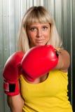κορίτσι μπόξερ Στοκ φωτογραφία με δικαίωμα ελεύθερης χρήσης