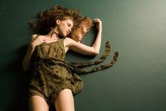 κορίτσι μόδας προκλητικό Στοκ Εικόνα