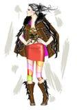 κορίτσι μόδας ελεύθερη απεικόνιση δικαιώματος