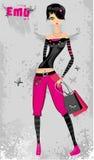 κορίτσι μόδας emo διανυσματική απεικόνιση