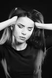 Κορίτσι μόδας σε ένα κοστούμι λουσίματος Στοκ Εικόνες