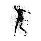 Κορίτσι μόδας στο σκίτσο-ύφος Στοκ εικόνες με δικαίωμα ελεύθερης χρήσης