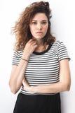 κορίτσι μόδας σύγχρονο Στοκ Εικόνες