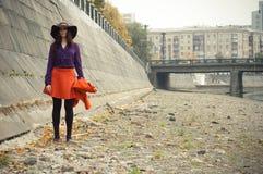 κορίτσι μόδας Στοκ Φωτογραφία