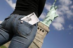 κορίτσι Νέα Υόρκη στοκ φωτογραφίες