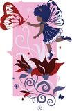 κορίτσι νεράιδων λίγη σκιαγραφία Στοκ εικόνες με δικαίωμα ελεύθερης χρήσης