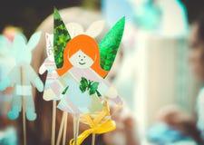Κορίτσι νεράιδων φιαγμένο από έγγραφο Στοκ Φωτογραφία
