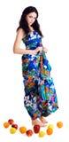 κορίτσι νωπών καρπών πατωμάτ&omega Στοκ εικόνα με δικαίωμα ελεύθερης χρήσης