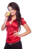 κορίτσι ομορφιάς μήλων Στοκ φωτογραφίες με δικαίωμα ελεύθερης χρήσης