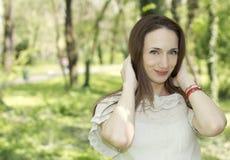 Κορίτσι ομορφιάς φύσης Στοκ εικόνες με δικαίωμα ελεύθερης χρήσης