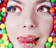 κορίτσι ομορφιάς candys Στοκ φωτογραφία με δικαίωμα ελεύθερης χρήσης
