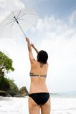 Κορίτσι ομπρελών στοκ εικόνες