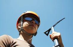 Κορίτσι ορειβατών Στοκ φωτογραφία με δικαίωμα ελεύθερης χρήσης