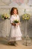 κορίτσι λουλουδιών λίγα Στοκ Εικόνες