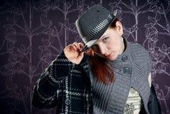 κορίτσι παλτών hat2 στοκ φωτογραφία με δικαίωμα ελεύθερης χρήσης