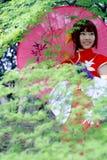 κορίτσι παραδοσιακό στοκ φωτογραφίες
