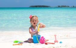 κορίτσι παραλιών μωρών Στοκ Εικόνες