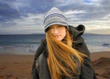 κορίτσι παραλιών όμορφο Στοκ Εικόνες