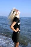 κορίτσι παραλιών Στοκ εικόνες με δικαίωμα ελεύθερης χρήσης