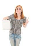 κορίτσι περίπτωσης redhead Στοκ φωτογραφία με δικαίωμα ελεύθερης χρήσης