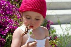 κορίτσι πεταλούδων λίγα Στοκ εικόνα με δικαίωμα ελεύθερης χρήσης