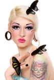 κορίτσι πεταλούδων Στοκ φωτογραφίες με δικαίωμα ελεύθερης χρήσης