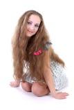 κορίτσι πεταλούδων sundress Στοκ Φωτογραφίες