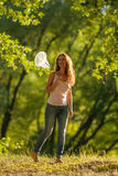 κορίτσι πεταλούδων καθαρό Στοκ Εικόνα
