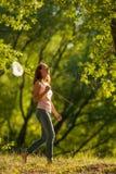 κορίτσι πεταλούδων καθαρό Στοκ Φωτογραφία
