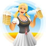 Κορίτσι πιό oktoberfest απεικόνιση αποθεμάτων