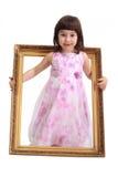 κορίτσι πλαισίων Στοκ φωτογραφία με δικαίωμα ελεύθερης χρήσης