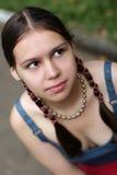 κορίτσι πλεξουδών Στοκ Φωτογραφία