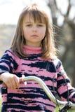 κορίτσι ποδηλάτων Στοκ Φωτογραφίες