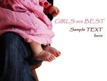 κορίτσι ποδιών μωρών λίγα Στοκ εικόνες με δικαίωμα ελεύθερης χρήσης
