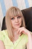 κορίτσι πολυθρόνων Στοκ εικόνες με δικαίωμα ελεύθερης χρήσης