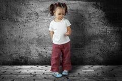 κορίτσι που ανατρέπεται Στοκ φωτογραφία με δικαίωμα ελεύθερης χρήσης