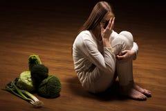 Κορίτσι που απορρίπτει τα τρόφιμα Στοκ Εικόνες