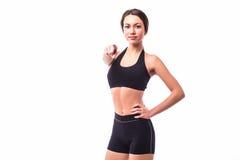 Κορίτσι που δείχνεται αθλητικό σε σας στοκ εικόνα με δικαίωμα ελεύθερης χρήσης