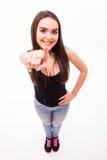 Κορίτσι που δείχνεται σε σας άνωθεν στοκ εικόνα με δικαίωμα ελεύθερης χρήσης