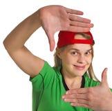 Κορίτσι που κάνει το μορφασμό στοκ εικόνα