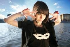 κορίτσι που καλύπτεται Στοκ εικόνες με δικαίωμα ελεύθερης χρήσης