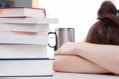Κορίτσι που κουράζεται της μελέτης Στοκ Εικόνες