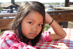 κορίτσι που κουράζεται Στοκ Φωτογραφίες