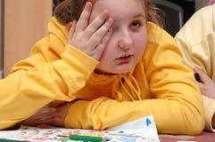 κορίτσι που κουράζεται Στοκ Φωτογραφία