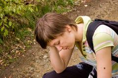 κορίτσι που κουράζεται Στοκ εικόνα με δικαίωμα ελεύθερης χρήσης