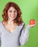 Κορίτσι που κρατά τη Apple Στοκ Φωτογραφίες