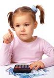 κορίτσι που λίγα χρήματα π&al Στοκ Εικόνες